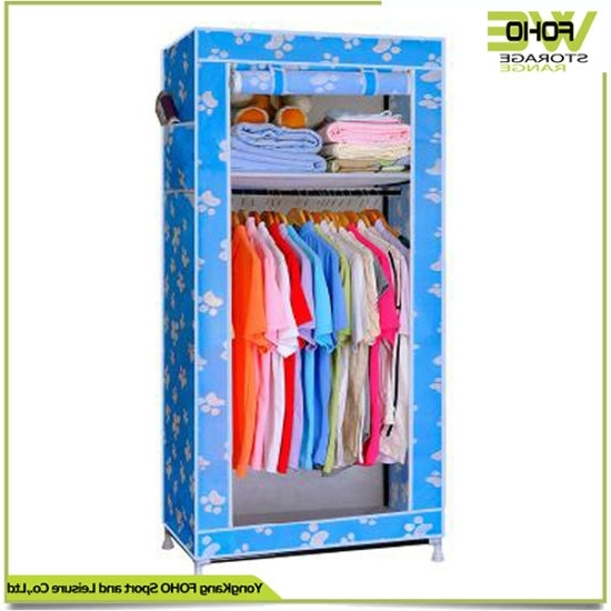 China Bedroom Foldable Storage Cabinet Small Cheap Discount Regarding Widely Used Wardrobes Cheap (View 7 of 15)