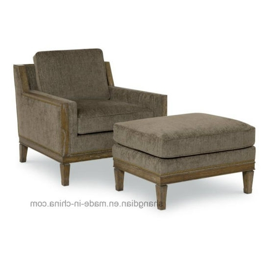China Wooden Legs Lounge Chair With Ottoman For Hotel Used (st0048 Intended For Latest High Quality Chaise Lounge Chairs (View 8 of 15)