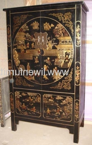 Chinese Painting Shanxi Wardrobes Manufacturer & Supplier With Regard To Famous Chinese Wardrobes (View 3 of 15)