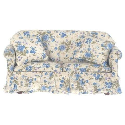 Chintz Floral Sofas Regarding Well Known Fascinating Benches Art Designs Also Blue Floral Chintz (View 3 of 10)