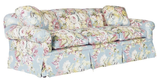 Chintz Sofas Regarding Recent A Three Seat Floral Chintz Upholstered Sofa, (View 4 of 10)