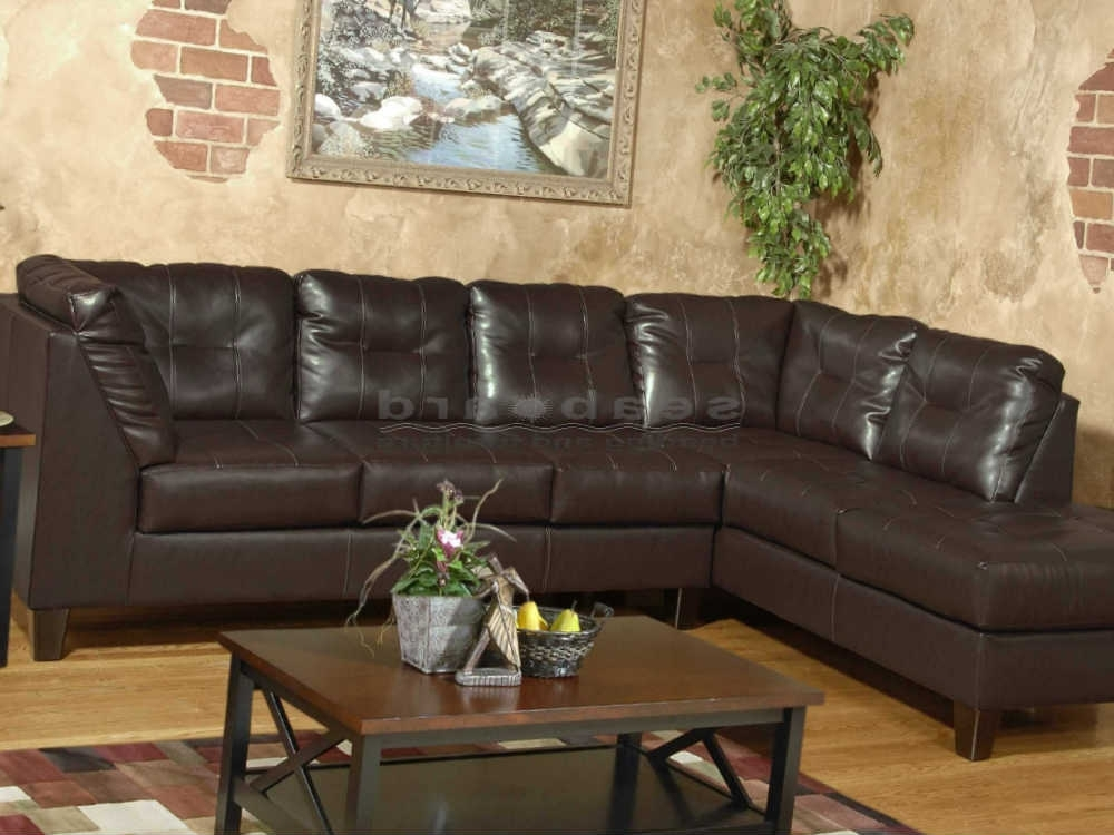 Chocolate Sectional Sofas Within Latest Serta San Marino Chocolate Laf Sectional  (View 4 of 10)