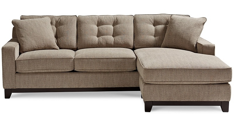 Clarke Fabric 2 Piece Sectional Queen Sleeper Sofa Bed – New 2018 In 2018 2 Piece Sectionals With Chaise (View 3 of 15)