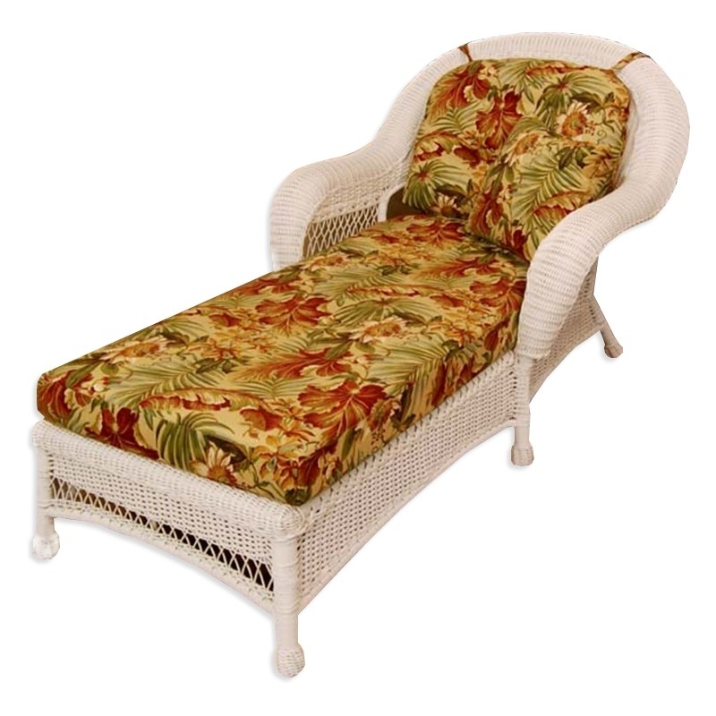 Classic Coastal Hampton Wicker Chaise Lounge – Wicker With Regard To Famous Wicker Chaises (View 4 of 15)
