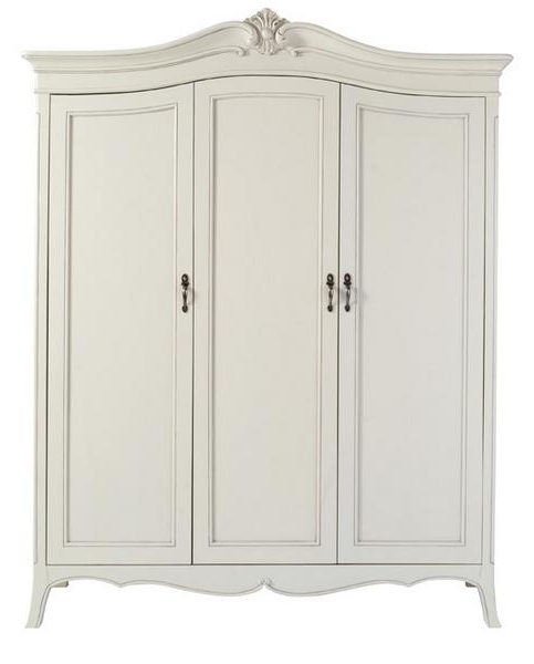 Classic Isabel Cream 3 Door Wardrobe – Lock Stock & Barrel With Regard To 2017 White 3 Door Wardrobes (View 3 of 15)