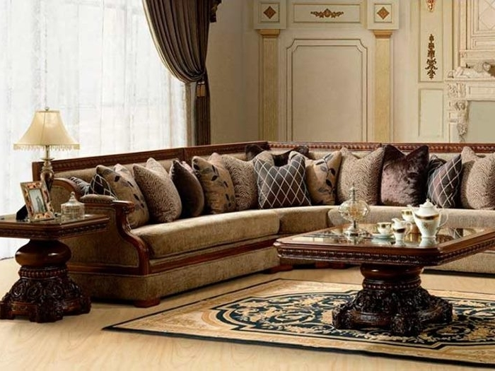 Classic Sectional Sofa For Elegant Living Room – 4 Home Decor With Newest Elegant Sectional Sofas (View 2 of 10)