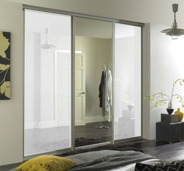 Clearance Cheap Wardrobe Doors Within Well Known 1 Door Mirrored Wardrobes (View 4 of 15)