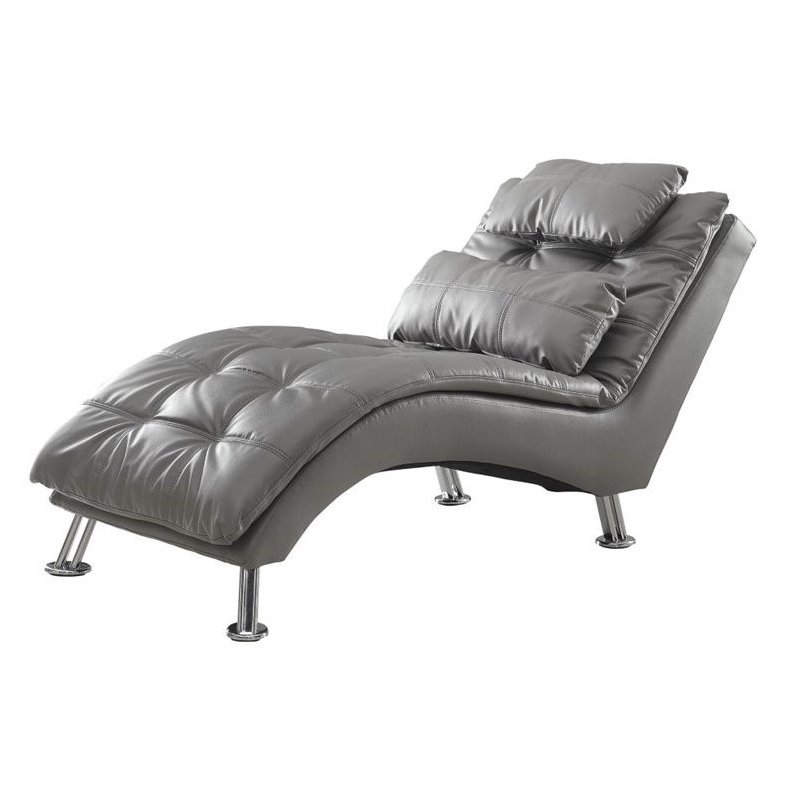 Coaster Dilleston Contemporary Chaise Lounge In Gray – 550029 In Most Current Coaster Chaise Lounges (View 7 of 15)
