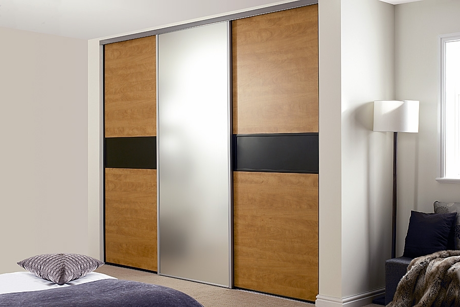 Coloured Wardrobes In Newest Steel Framed Sliding Wardrobe Doors. Wardrobe Doors Direct (View 3 of 15)