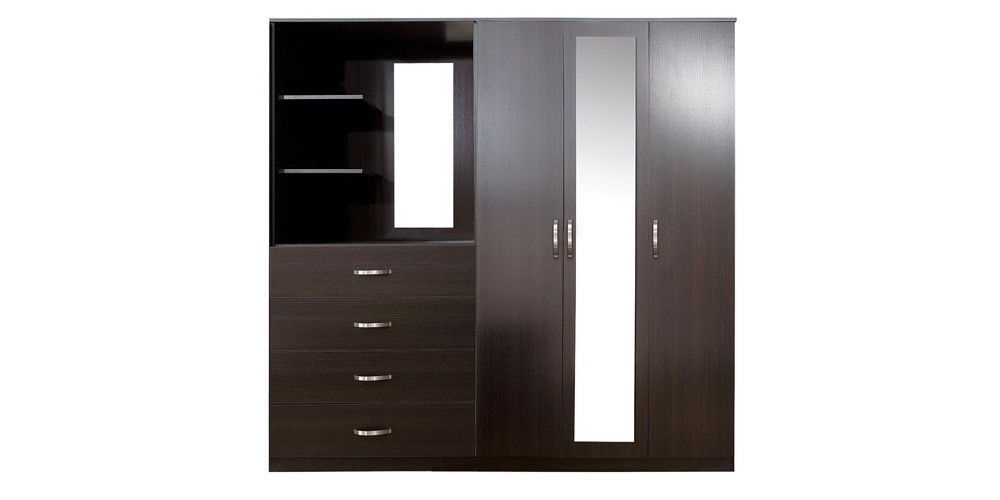 Combi Wardrobes With Regard To Well Known Brand New Boxed Peru 3 Door, 4 Drawer Mirrored Combi Wardrobe Rrp (View 11 of 15)