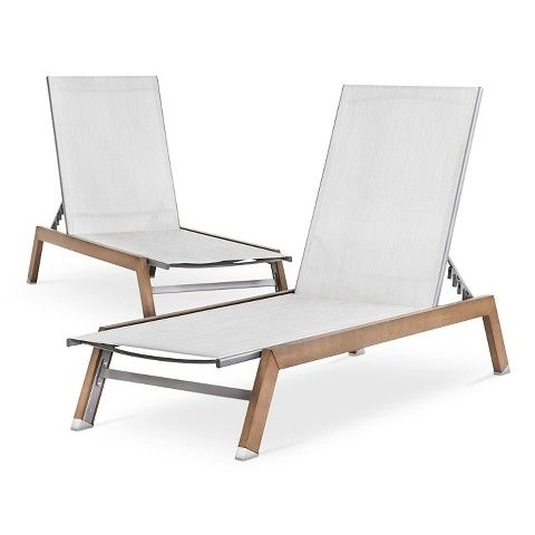 Comfortable Outdoor Chaise Lounge Chairs Within Well Liked Wish We Could Afford These :( Bryant 2 Piece Faux Wood Patio (View 15 of 15)