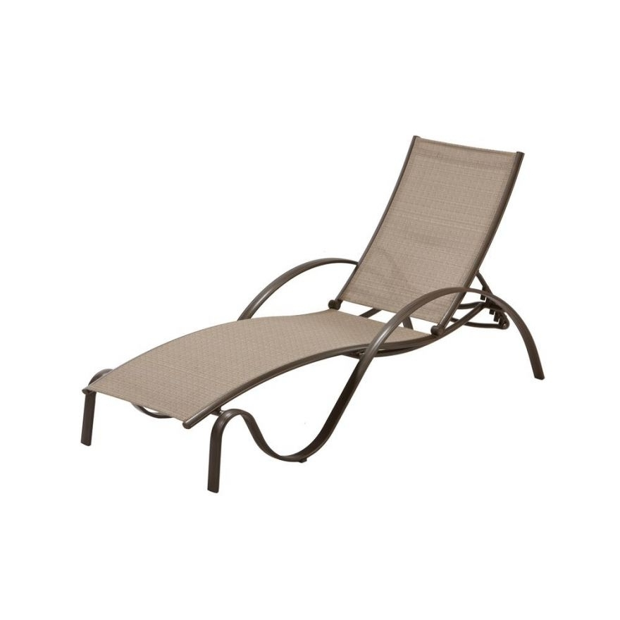 Commercial Grade Outdoor Chaise Lounge Chairs Within Fashionable Commercial Grade Aluminum Brown Outdoor Chaise Lounge In Sunbrella (View 13 of 15)
