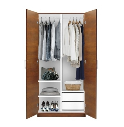Contempo Space Inside 2 Door Wardrobes With Drawers And Shelves (View 9 of 15)