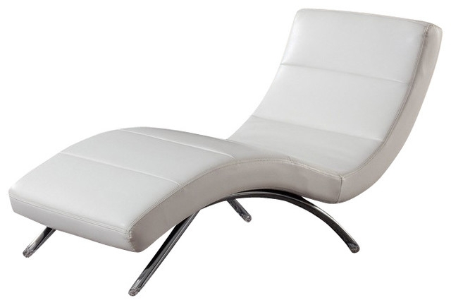 Contemporary Chaise Lounge Chairs With Newest White Leather Chaise Lounge (View 7 of 15)