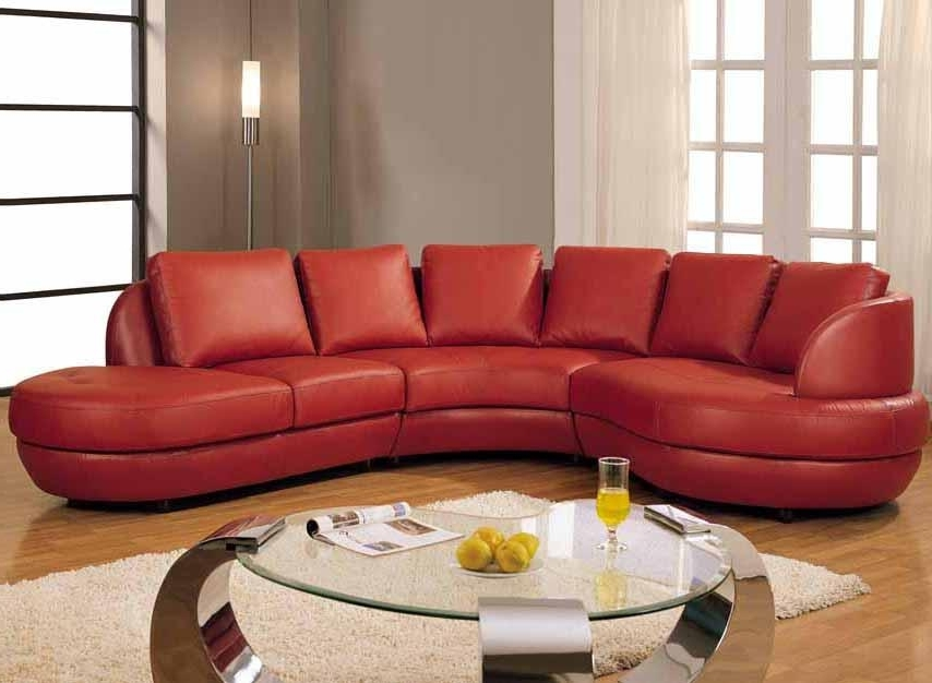 Contemporary Red Leather Sectional Sofa With Chaise 12 Red Leather For 2017 Red Leather Sectional Couches (View 3 of 10)