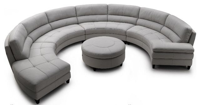 Contemporary Round Sofa Design For Spacious Area (View 5 of 10)