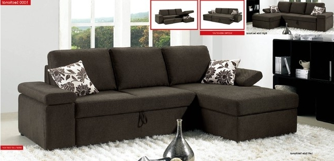 Convertible Sofa Sectional Sectional Sofas With Sleeper Bed Inside Newest Convertible Sectional Sofas (View 5 of 10)