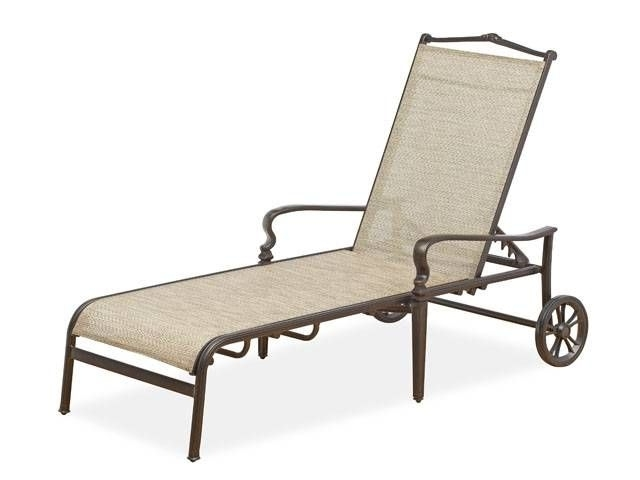 Cordoba Sling Chaise Lounge With Wheels – Fortunoff Backyard Store Regarding Well Liked Sling Chaise Lounge Chairs For Outdoor (View 5 of 15)