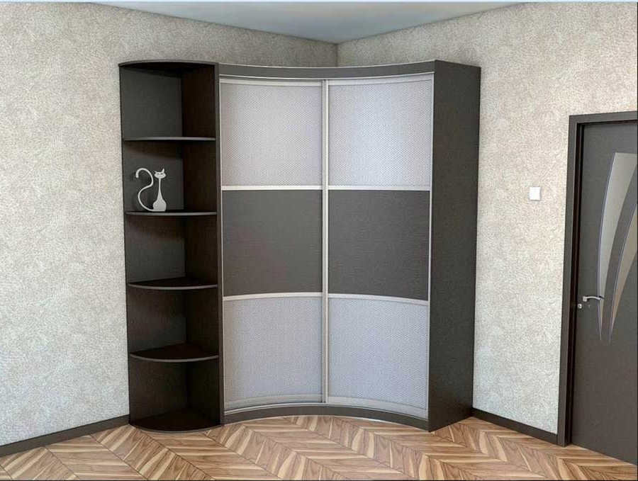 Corner Wardrobe Closet Design — Home Design Ideas With Latest Curved Corner Wardrobes Doors (View 6 of 15)