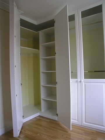 Corner Wardrobe With Solid Maple Door, Spray Painted In A White Throughout Famous White Corner Wardrobes (View 2 of 15)