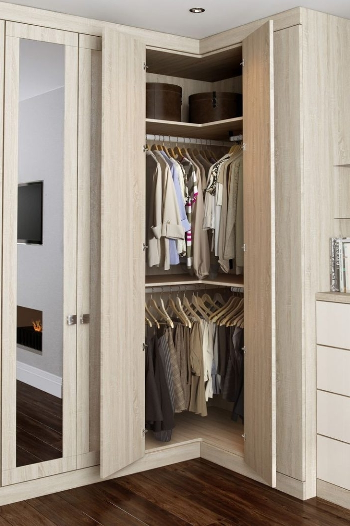 Corner Wardrobes With Well Liked Charming Corner Wardrobes For Small Bedrooms #4 Best 25+ Corner (View 7 of 15)