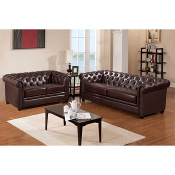 Costco: Canterbury Top Grain Leather Sofa And Loveseat (View 2 of 10)