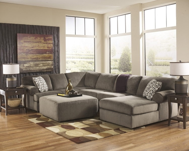 Couches With Large Ottoman In Current Enthralling 39802 16 34 67 Jessa Place Dune Sectional Ottoman (View 2 of 10)