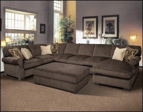 Couches With Large Ottoman Throughout Preferred Sectional Couches With Ottomans (View 5 of 10)