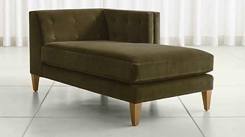 Crate And Barrel Pertaining To Leather Chaise Lounge Sofas (View 3 of 15)