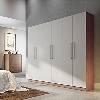 Cream Wardrobes With Regard To Best And Newest Amazon: Armoires And Wardrobes In Off White And Maple Cream (View 6 of 15)