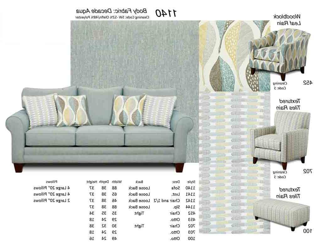 Current 1140 Sofa W/ Accent Pillows – Puritan Furniture Ct Within Aqua Sofas (View 7 of 10)