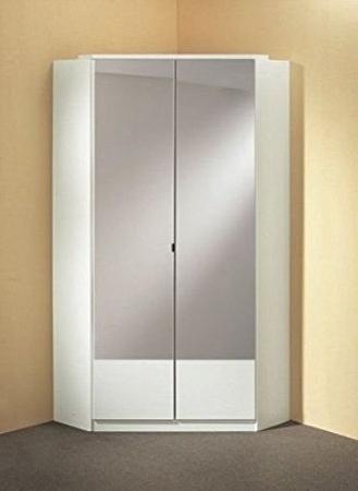 Current 2 Door Corner Wardrobes For Germanicatm Image 2 Door Mirrored Corner Wardrobe In White Colour (View 6 of 15)