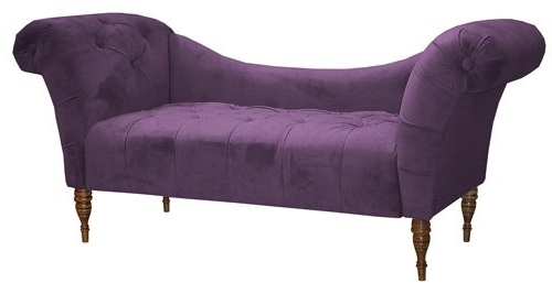 Current Amazon: Microsuede Purple Chaise Lounge Chair: Kitchen & Dining With Regard To Purple Chaise Lounges (View 3 of 15)