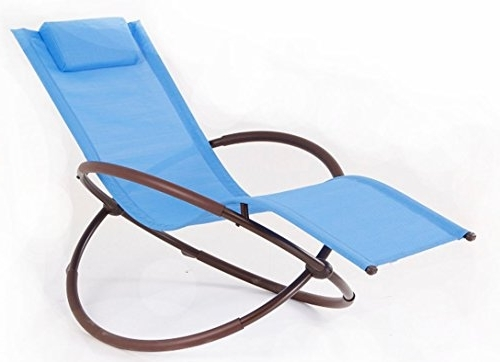 Current Bellezza© Folding Orbital Zero Gravity Recliner – Blue Our Rating Inside Zero Gravity Chaise Lounge Chairs (View 15 of 15)