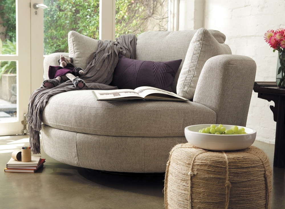 Current Big Round Sofa Chairs For Cheap Round Ottoman — Montserrat Home Design : Decorating The Room (View 8 of 10)
