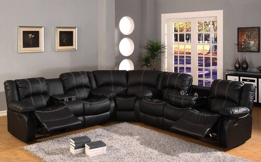 "Current Black Leather Reclining Sectional Sofa ""babe, We Need To Get Pertaining To Black Leather Sectionals With Chaise (View 8 of 15)"