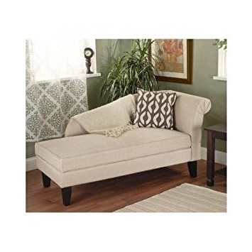 Current Chaise Lounge Chairs With Storage Throughout Amazon: Beige/tan Storage Chaise Lounge Sofa Chair Couch For (View 7 of 15)