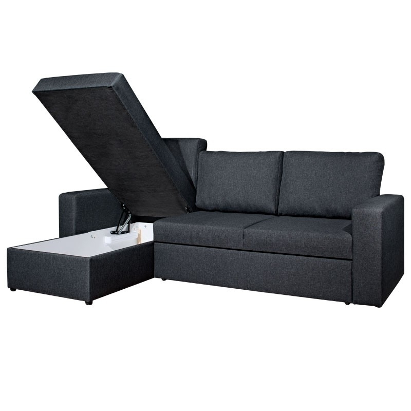Current Chaise Sofa Beds Pertaining To Vils Chaise Sofa Bed (Grey) (View 8 of 15)