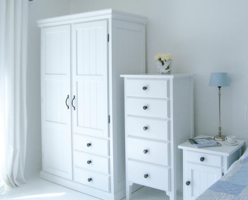 Current Cheap Wardrobes And Chest Of Drawers Intended For Manhattan Double Wardrobe With Drawers: New England Style White (View 7 of 15)