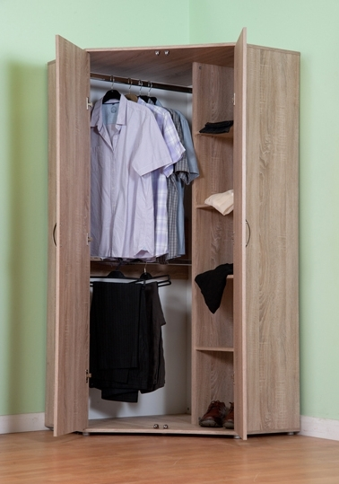 Current Chester Standard Corner Wardrobe With Sonoma Light Oak Option M1170 In Oak Corner Wardrobes (View 2 of 15)
