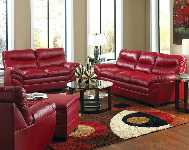Current Decorating With Red Leather Furniture – Nceresi Home In Red Leather Couches For Living Room (View 1 of 10)
