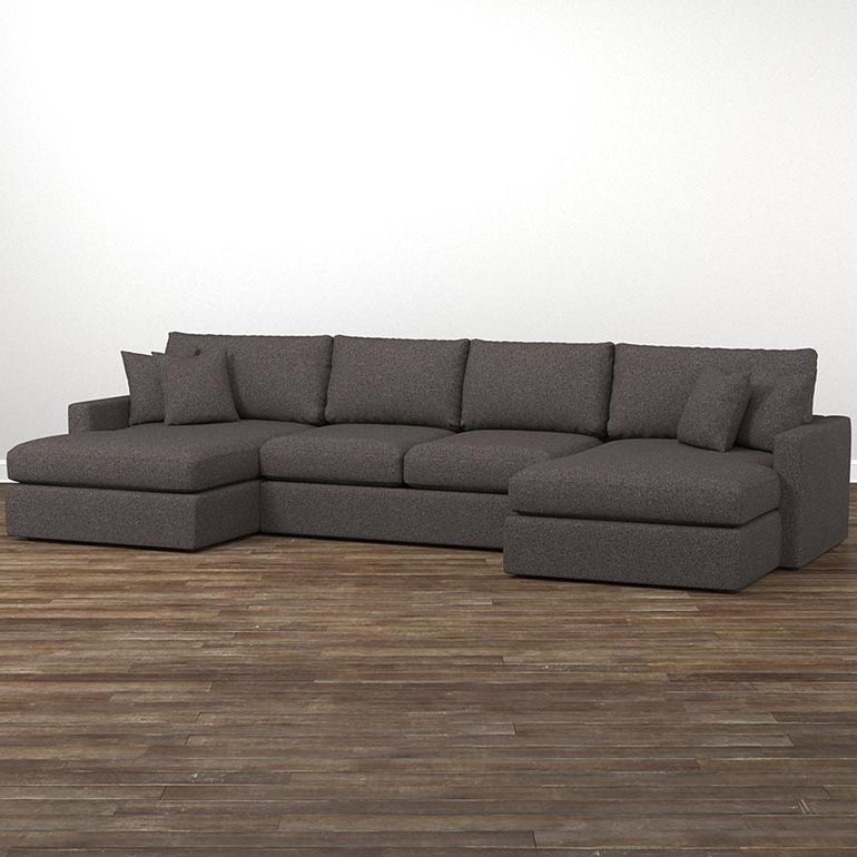 Current Deep Sectional Sofas With Chaise With Regard To Fabric Sectionals (View 1 of 15)