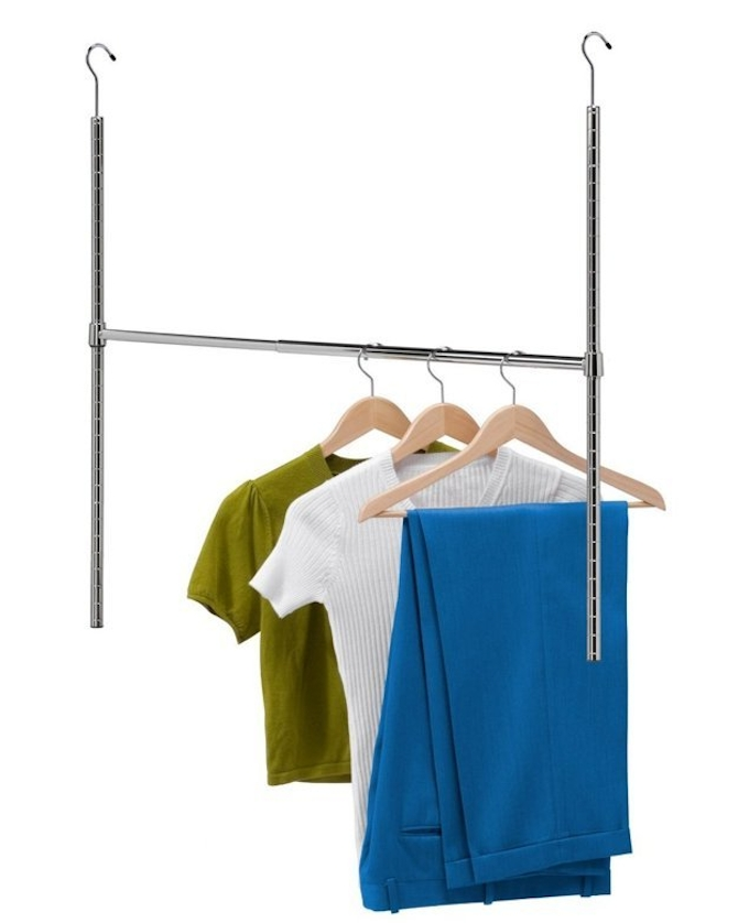 Current Double Hanging Rail For Wardrobes With Regard To 21 Brilliant Hacks For Your Tiny Wardrobe – Expert Home Tips (View 3 of 15)
