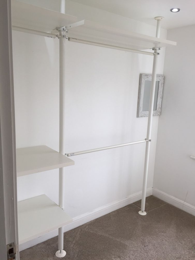 Current Double Rail Wardrobes Ikea For Ikea Stolmen Shelves Clothes Wardrobe Rail Poles (View 2 of 15)