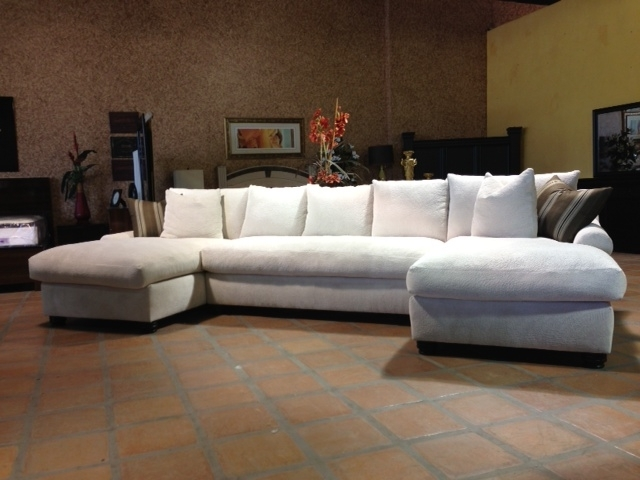 Current Down Feather Sectional Sofas With Bradly Double Chaise Feather Down Sectional (View 3 of 10)
