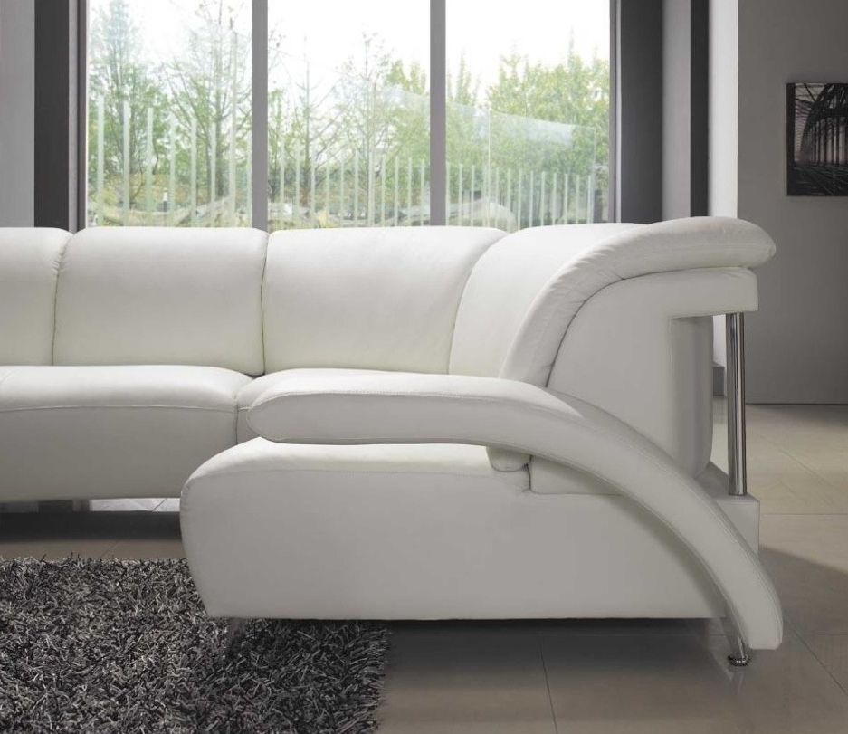 Current El Dorado Sectional Sofas Intended For Inspiring White Leather Sleeper Sofa White Leather Sleeper Sofa (View 2 of 10)