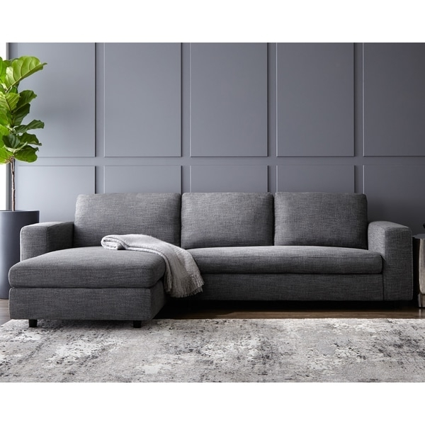 Current Ethan Grey Sofa – Free Shipping Today – Overstock – 19656115 Intended For Grey Sofa Chaises (View 2 of 15)