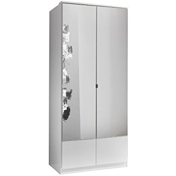 Current German Imago White 2 Door Mirror Door Wardrobe: Amazon.co (View 4 of 15)