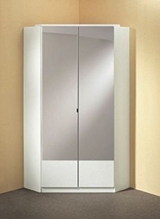Current Germanicatm Image 2 Door Mirrored Corner Wardrobe In White Colour With Corner Mirrored Wardrobes (View 9 of 15)
