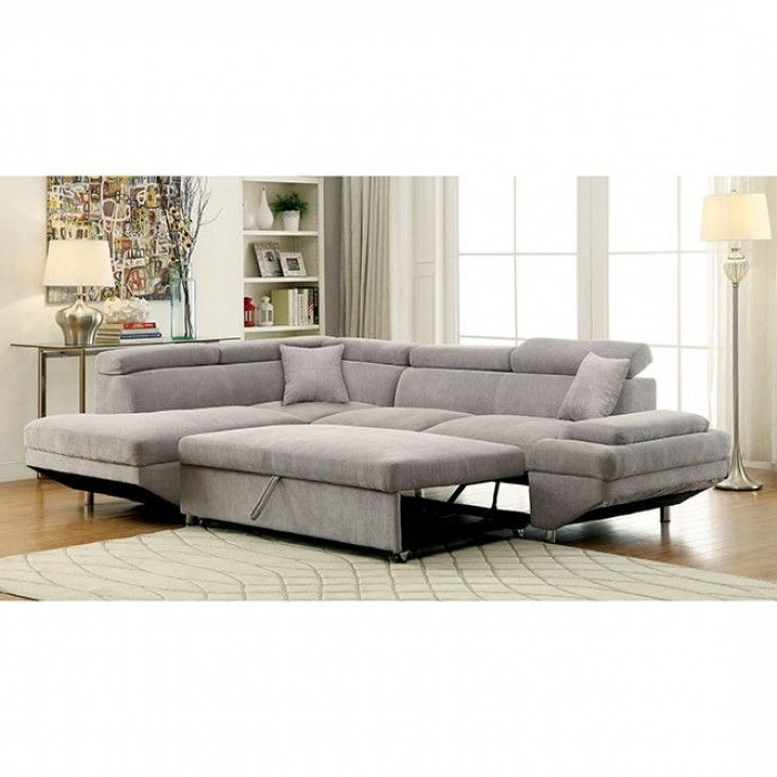Current Grey Pull Out Couch Queen Sofa Bed Gray Sectional Sofas Sleeper Throughout Adjustable Sectional Sofas With Queen Bed (View 5 of 10)